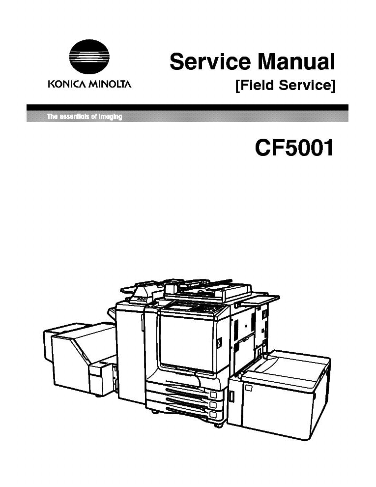 MINOLTA CF5001 SERVICE [FIELD] Service Manual download